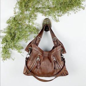 B. Makowsky Brown Leather Handbag 🌿